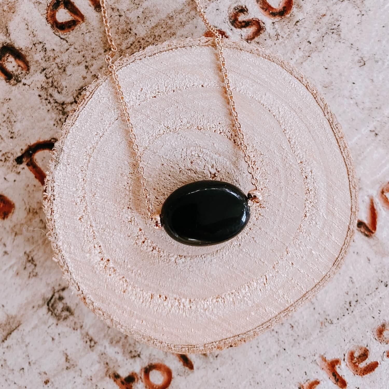 Collier Diana agate noire - Cénélia