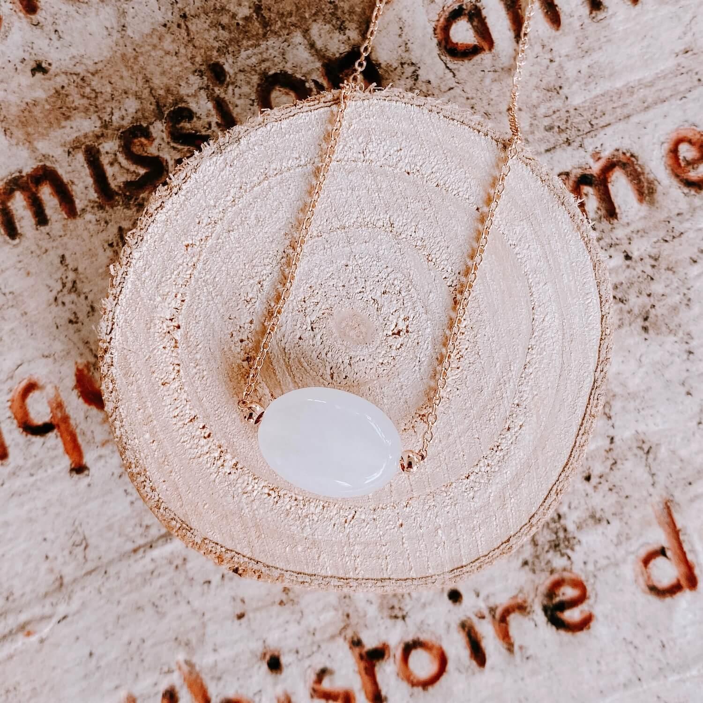 Collier Diana pierre de lune - Cénélia
