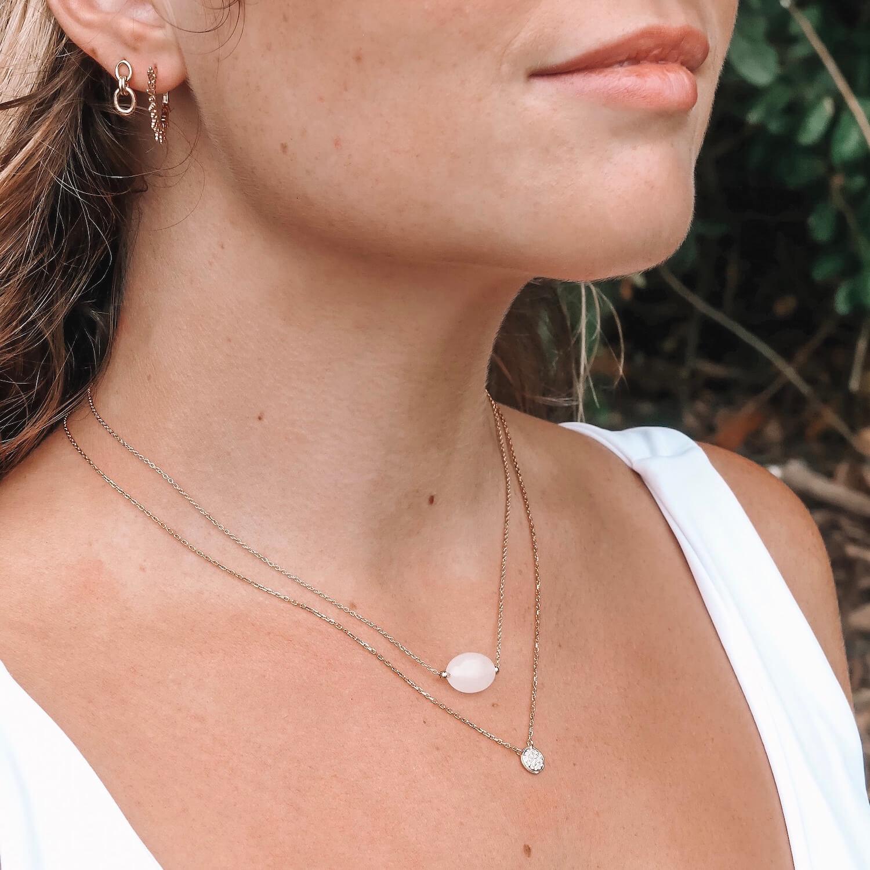 Collier Diana pierre de lune - Collier Mina - Cénélia