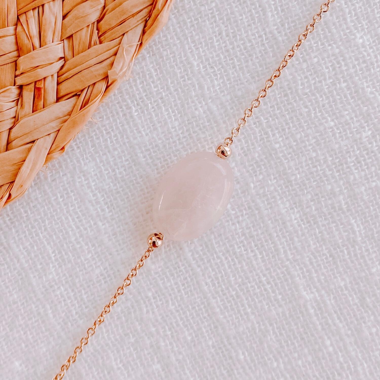 Collier Diana quartz rose - Cénélia