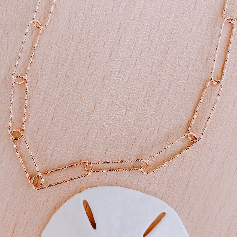 Collier Émilie - Collier grosse maille diamantée - Cénélia