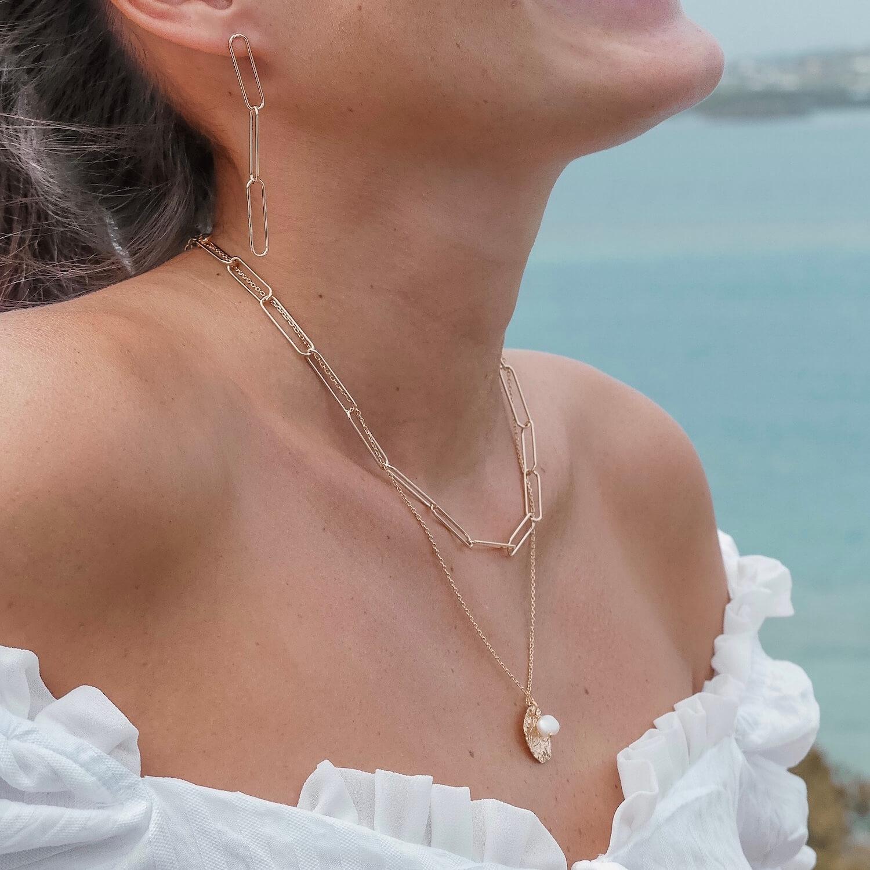 Collier Émilie lisse - Collier femme antilles maille agrafe