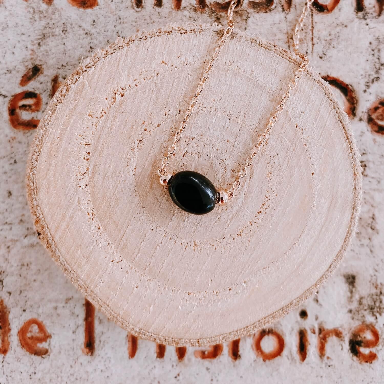 Collier Emma agate noire - Cénélia