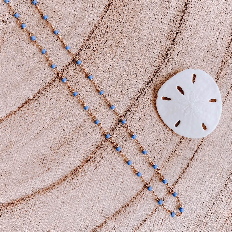 Collier Jana Cénélia - Collier fin petites perles bleu