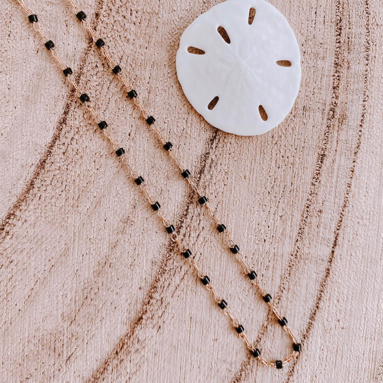 Collier Jana Cénélia - Collier fin petites perles noires
