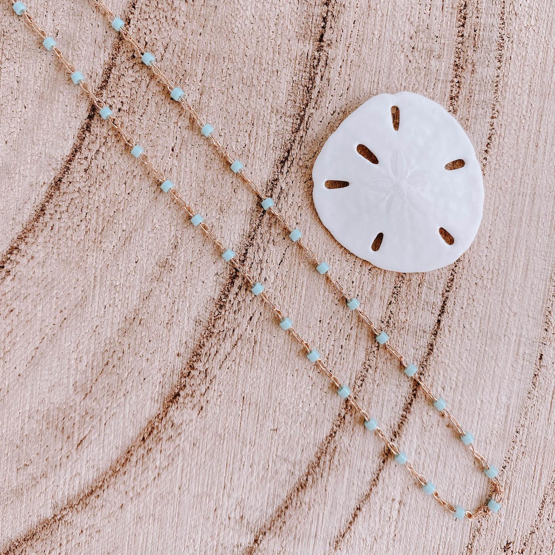 Collier Jana Cénélia - Collier fin petites perles vertes