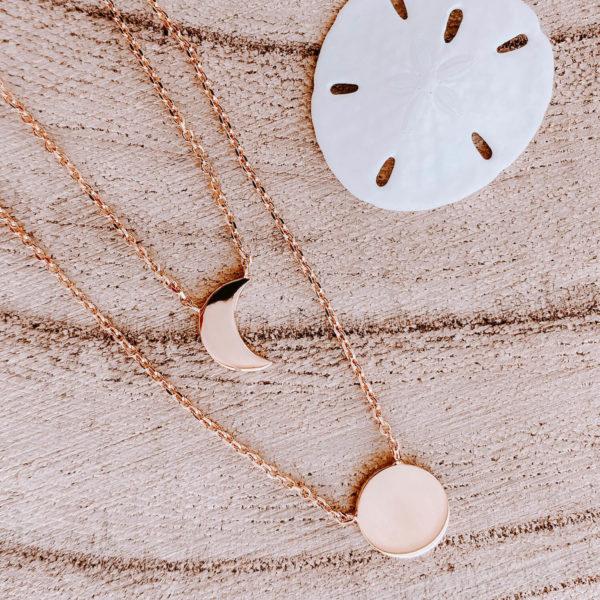 Collier double Louane - collier lune et soleil Cénélia
