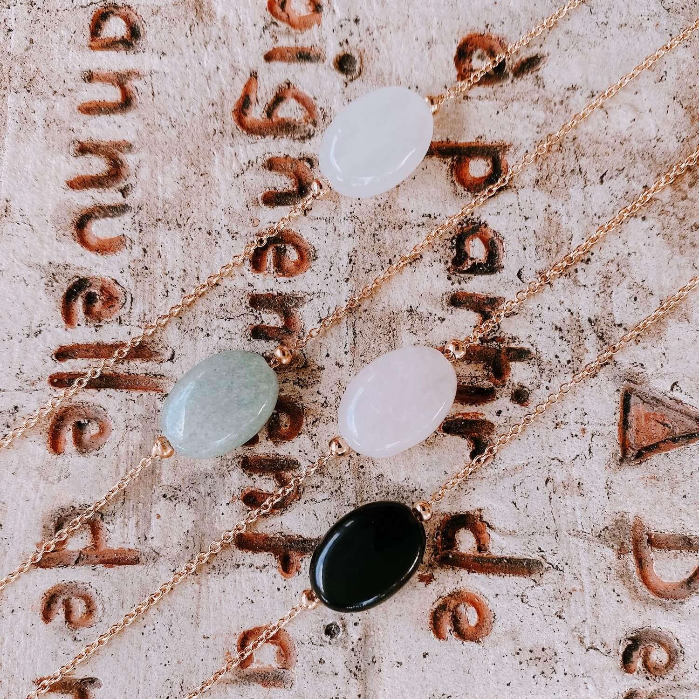 Collier pierre naturelle femme or Martinique - Diana - Cénélia