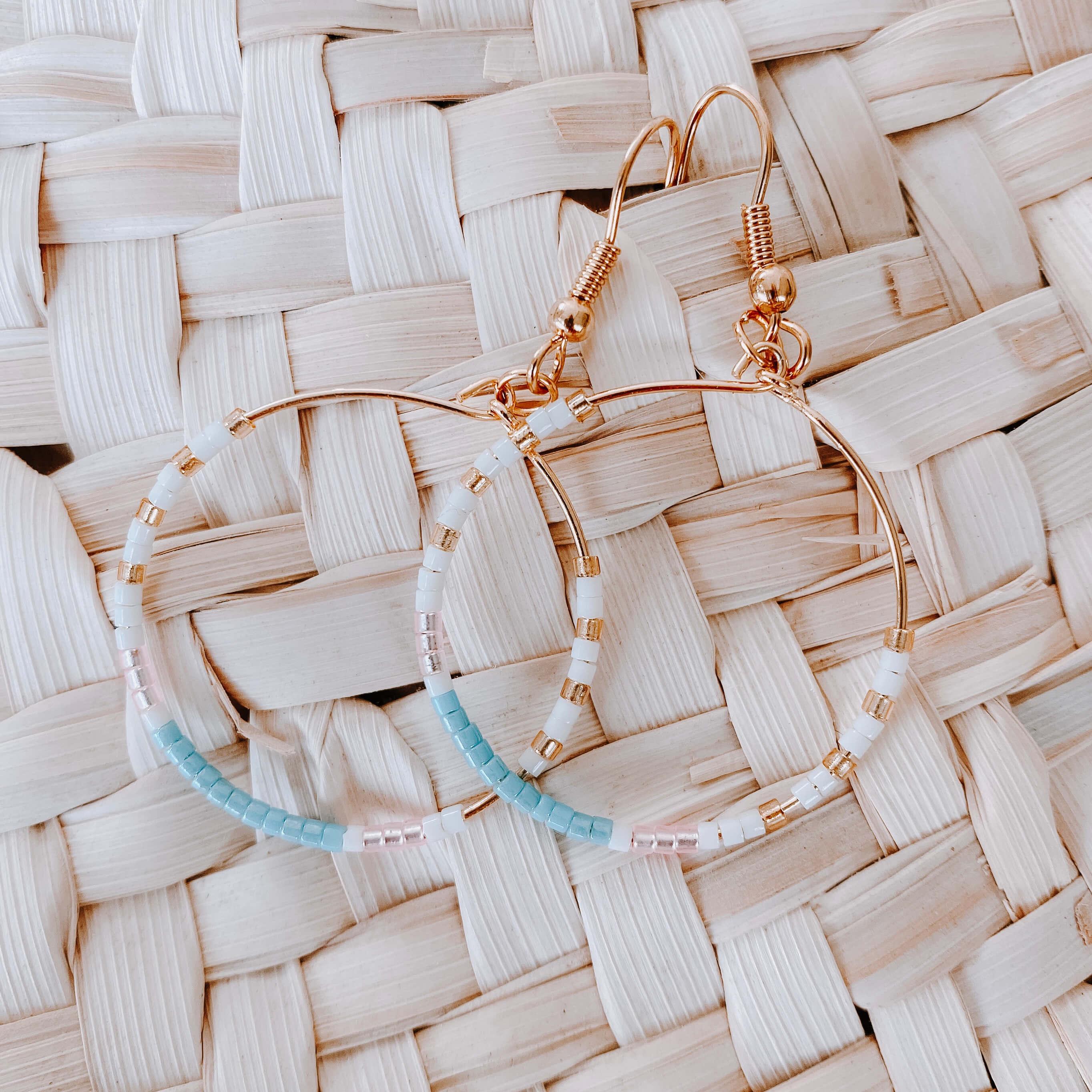 Créole colorées - bleu layette - Cénélia - Joy