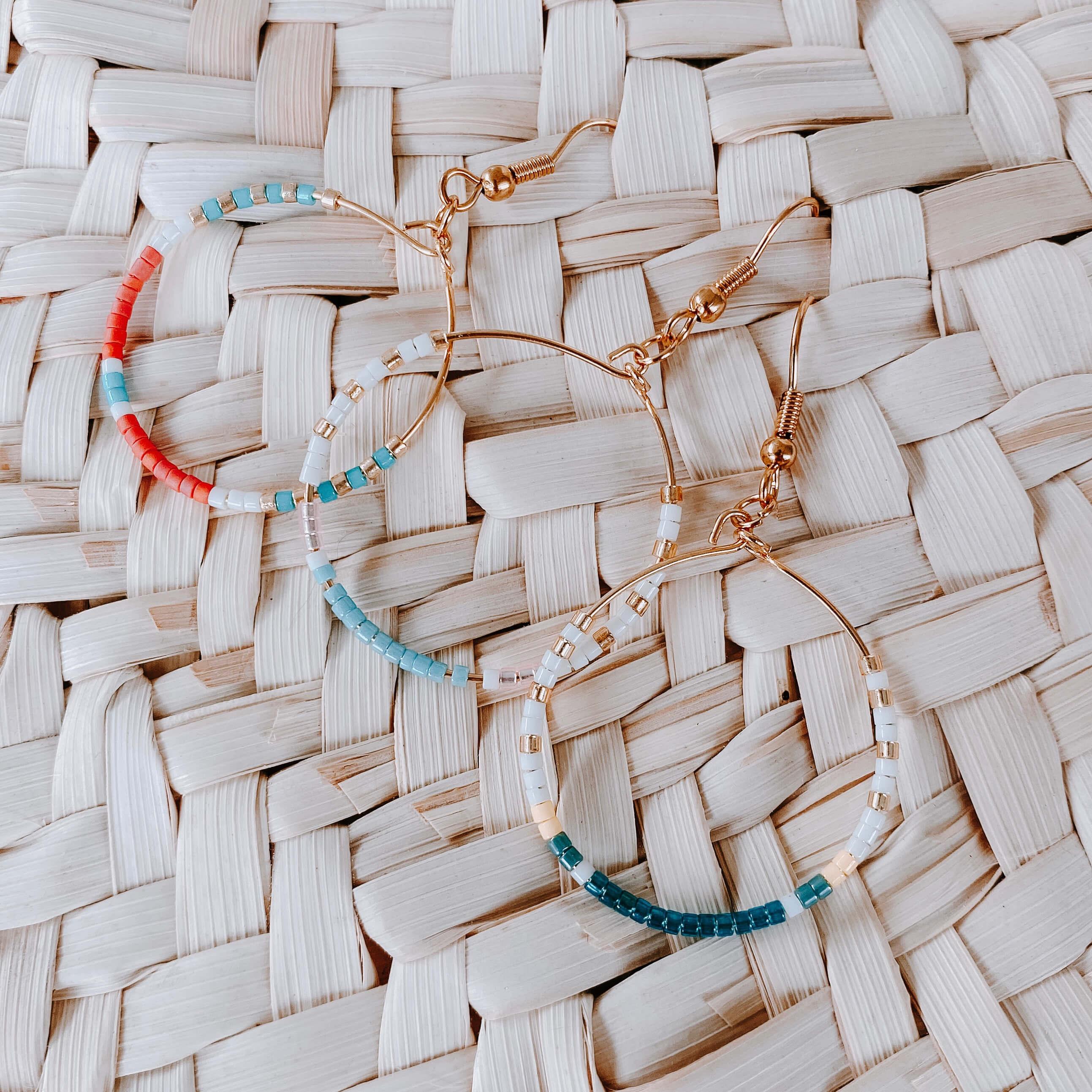 Créoles colorées - Cénélia - Joy