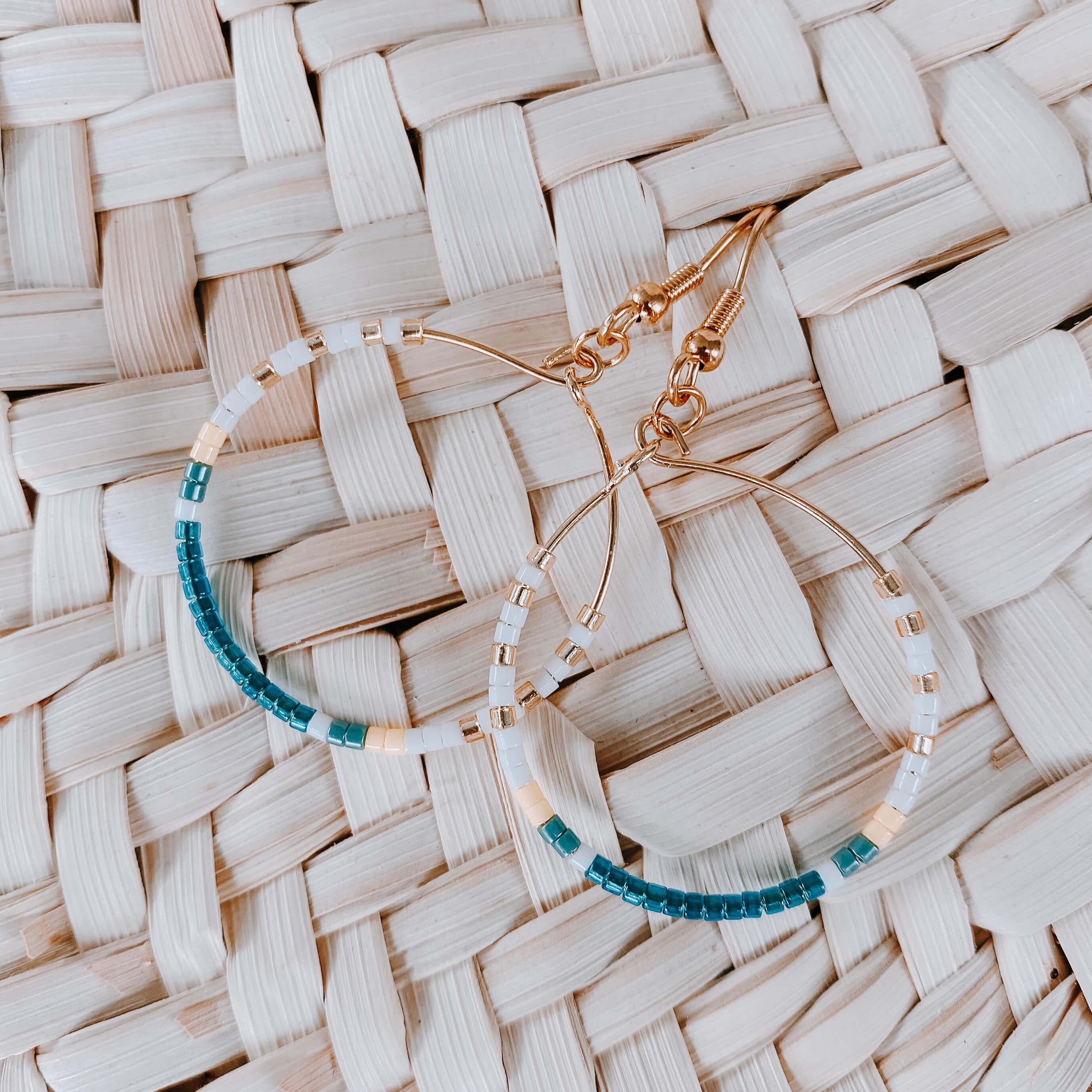 Créoles colorées bleu canard - Cénélia - Joy