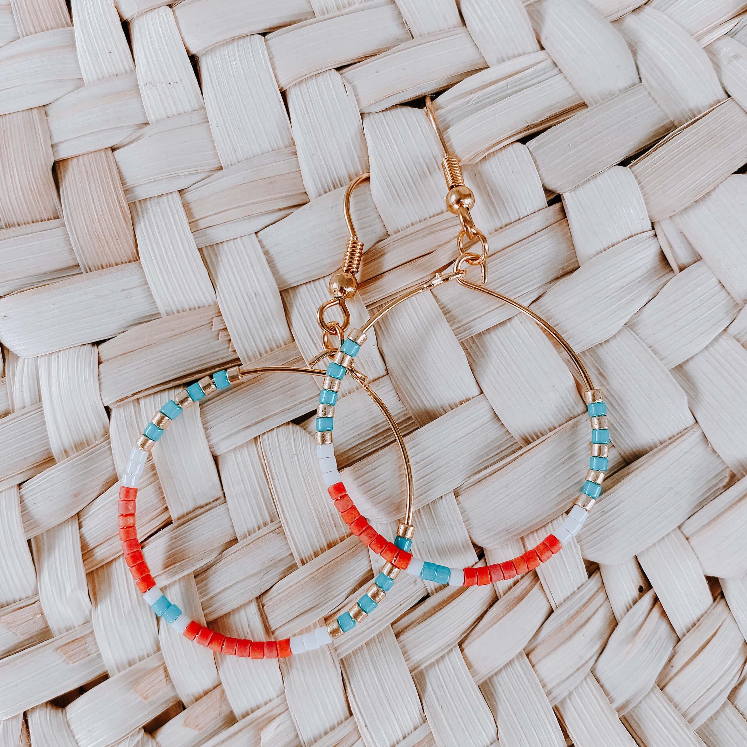 Créoles colorées rouge corail - Cénélia - Joy