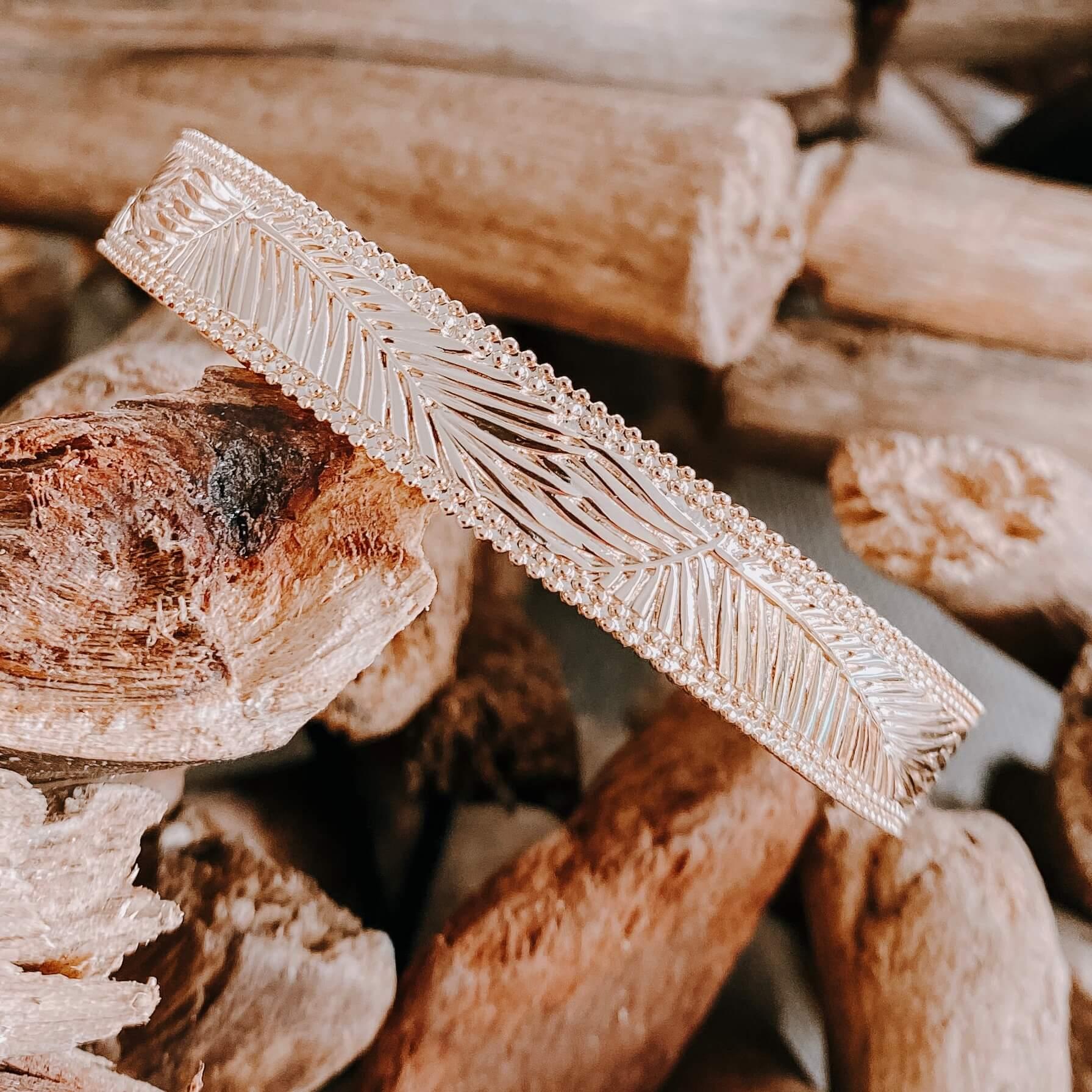 Jonc Palmtree - bracelet large or femme - Cénélia