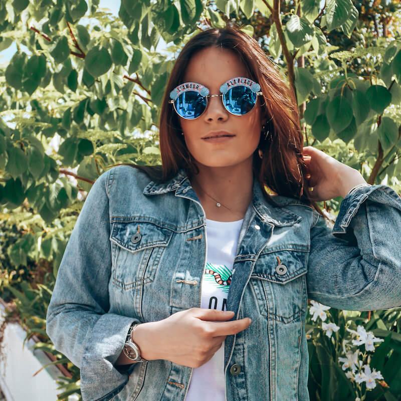 Lunettes de soleil L'amour à la plage - lunettes de soleil été femme mode - Cénélia