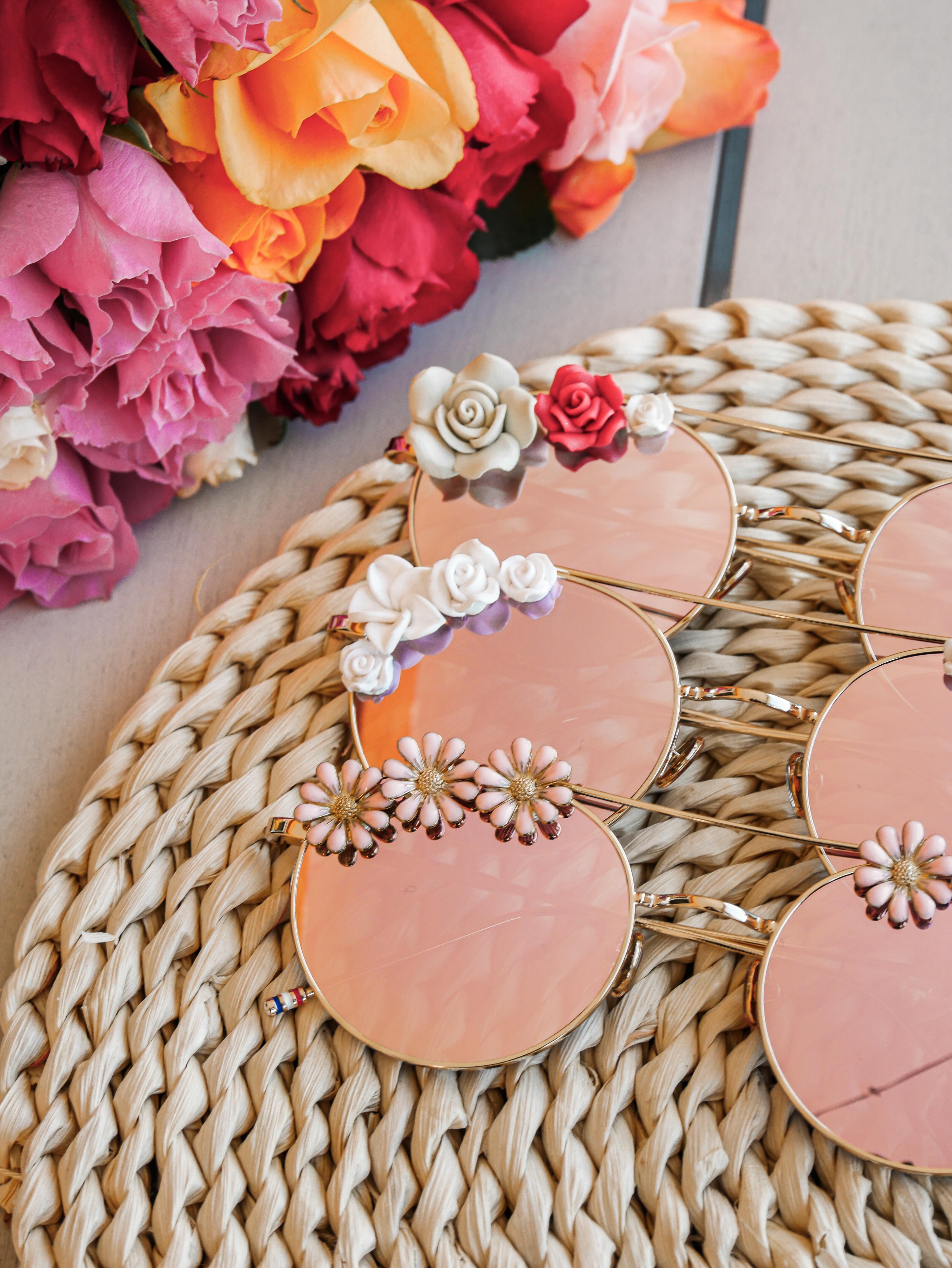 Lunettes de soleil à fleurs | Lunettes mode femme | Rosalie | Cénélia