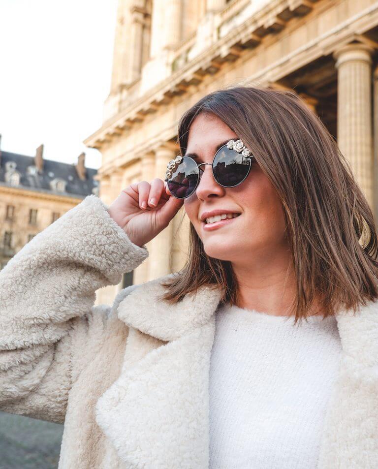 Lunettes de soleil à fleurs dorées - lunettes solaires mode femme - Cénélia - Coline