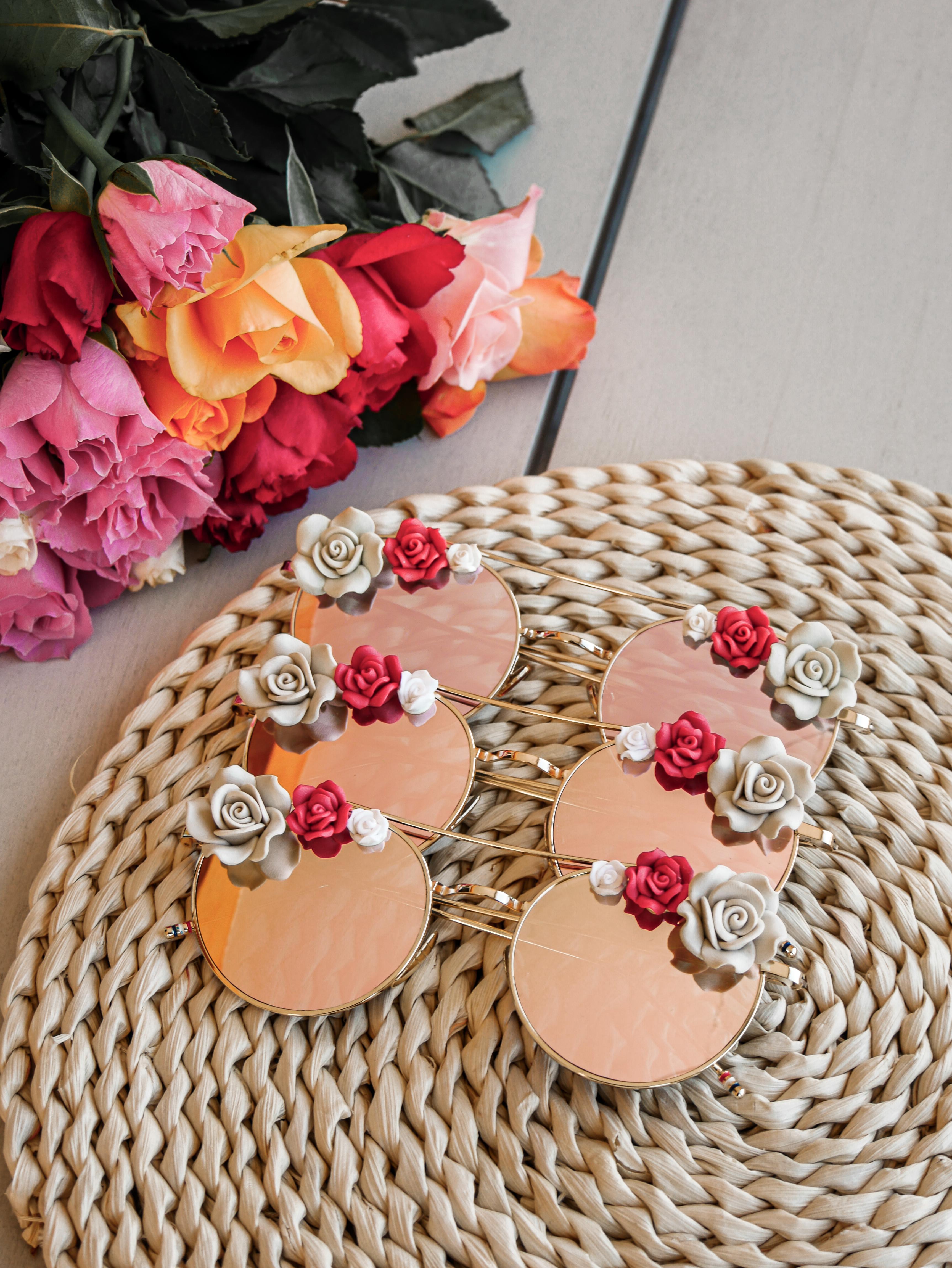 Lunettes de soleil à fleurs | lunettes mariage | Cénélia | Rosalie