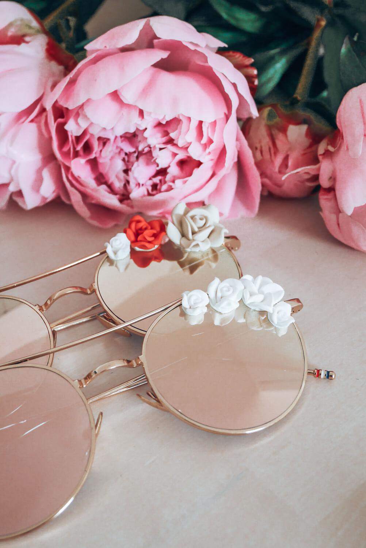 Lunettes de soleil à fleurs - lunettes mariage bohème - Cénélia - Rosalie