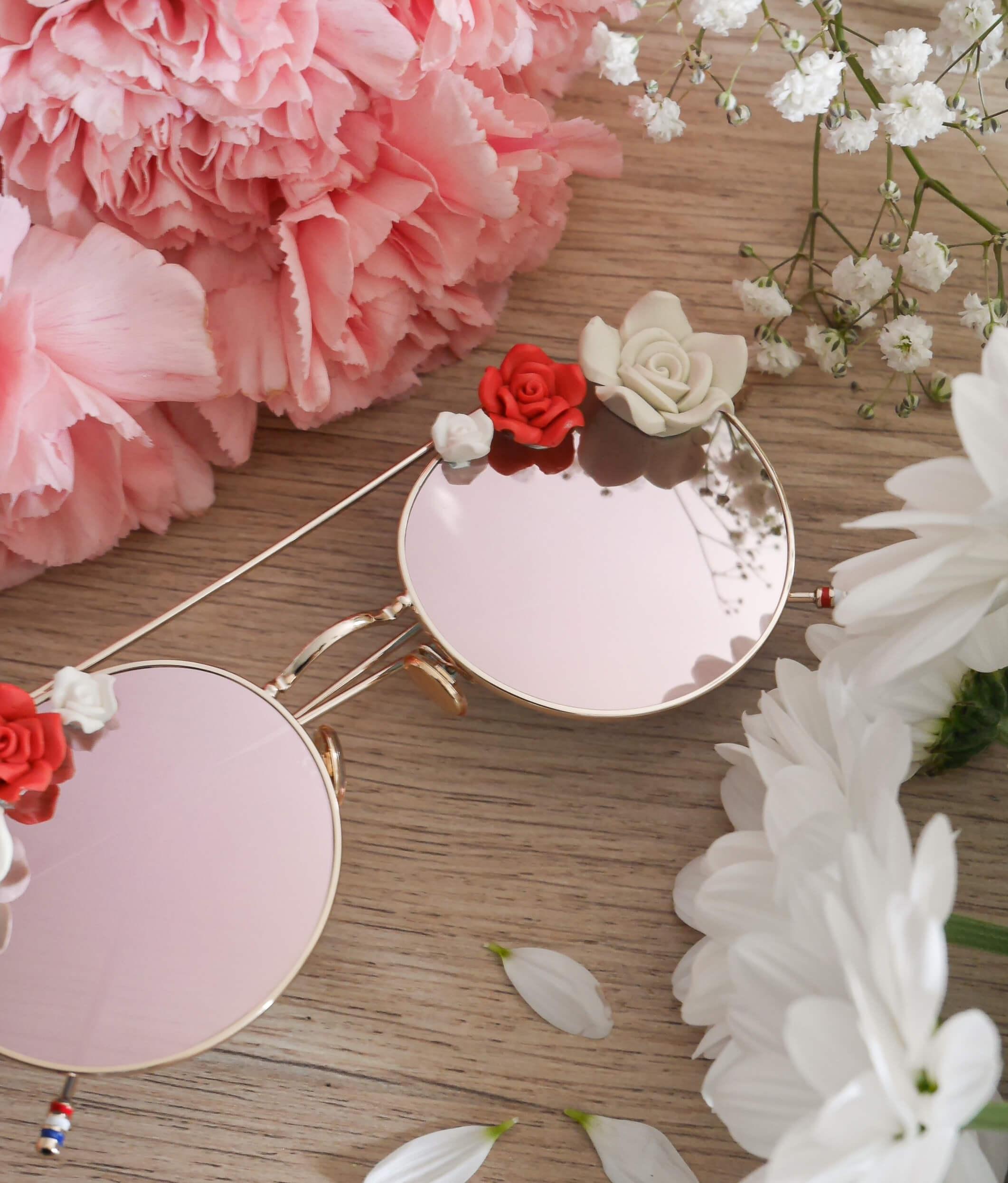 Lunettes de soleil à fleurs - lunettes mariage bohème - mode femme - Cénélia - Rosalie