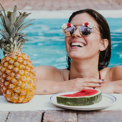 Lunettes de soleil à fleurs - lunettes mode femme décorées - Cénélia - Rosalie