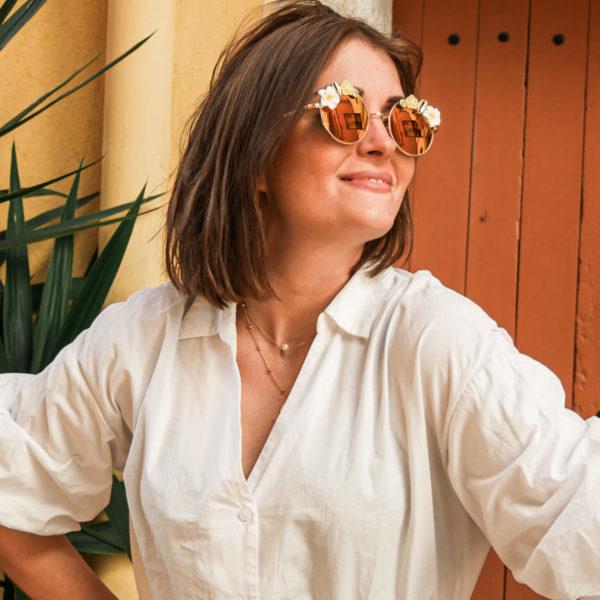 Lunettes de soleil polarisées tendance - lunettes rondes femme mode - Sophia - Cénélia