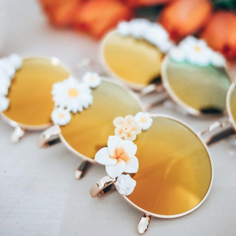 Lunettes polarisées fleuries - lunettes de soleil fleurs - lunettes bohème - Cénélia - Martha