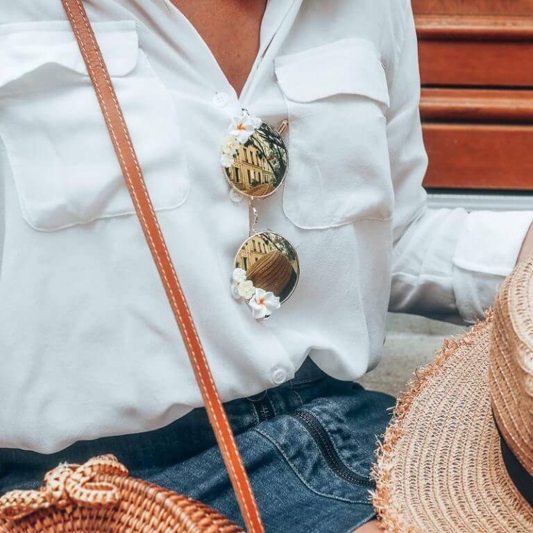 Lunettes polarisées fleuries - lunettes fleurs - lunettes instagram - Cénélia - Martha