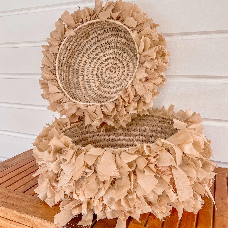 Panière ronde décoration bohème - Cénélia