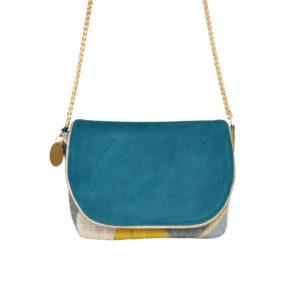Petit sac bleu - sac bandoulière femme chic - Valina - Cénélia