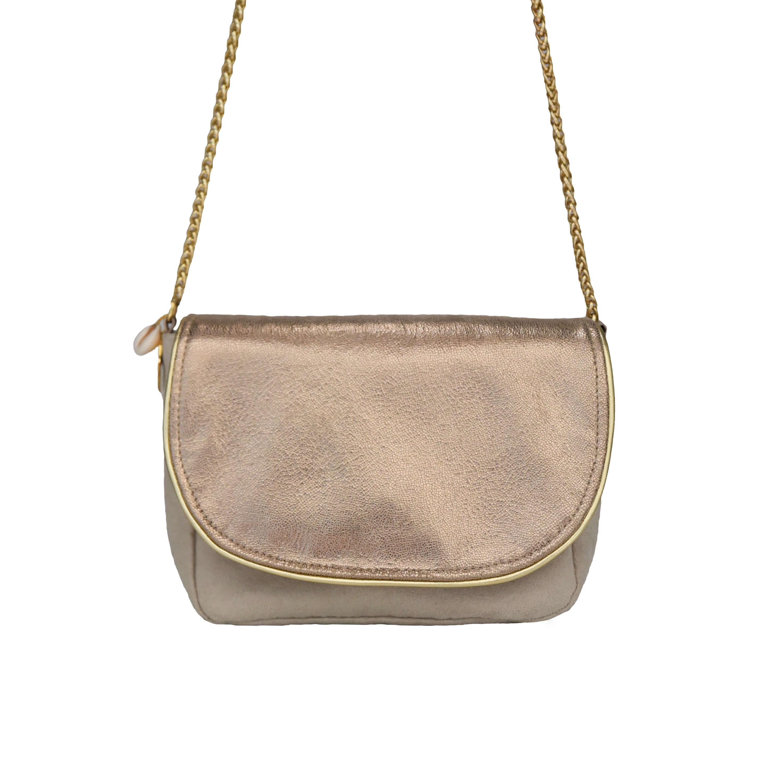 Petit sac doré - sac bandoulière femme chic - Romy - Cénélia