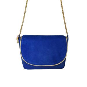 Petit sac en cuir bleu - sac bandoulière femme chic - Zoé - Cénélia