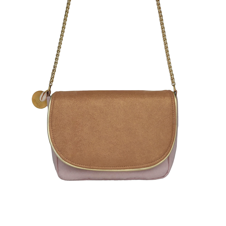 Petit sac en cuir rose - sac bandoulière femme chic - Lola - Cénélia