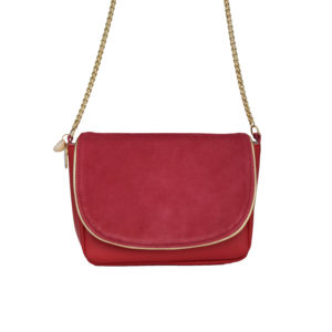 pink leather little bag - chic woman's shoulder bag - Nina - Cénélia