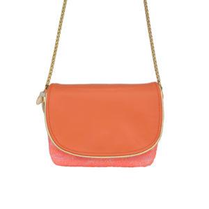 Petit sac tweed coloré - sac bandoulière femme chic - Lucie - Cénélia