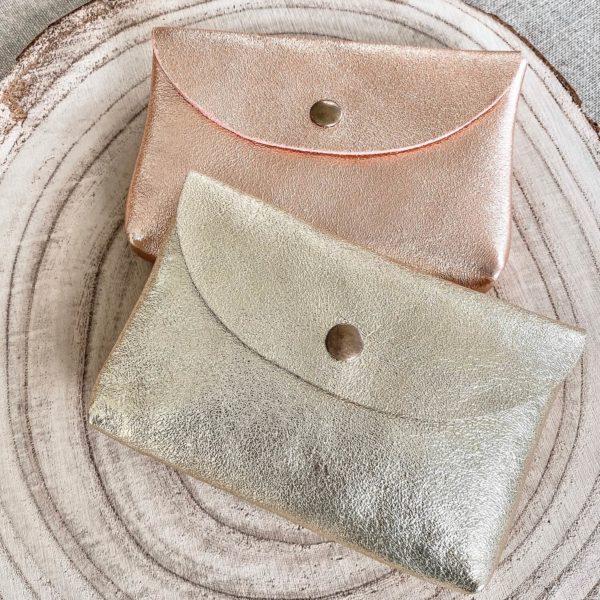Pochette irisée en cuir - Trousse de sac Cénélia
