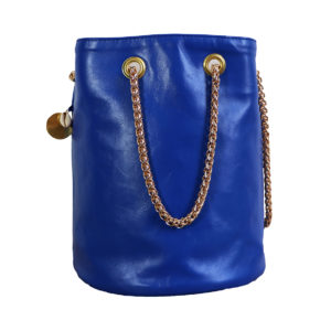 Sac seau bleu Klein | Sac rond mode femme fait en France | Zoé | Cénélia