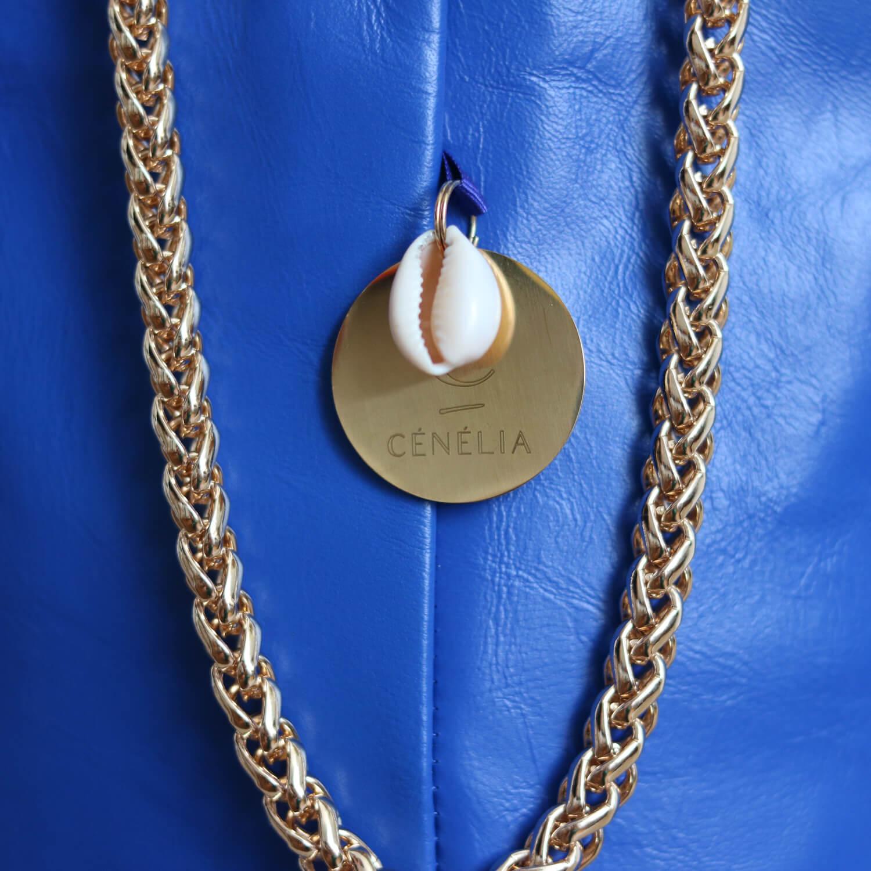 Sac seau bleu klein Zoé - Cénélia - sac femme cuir mode France