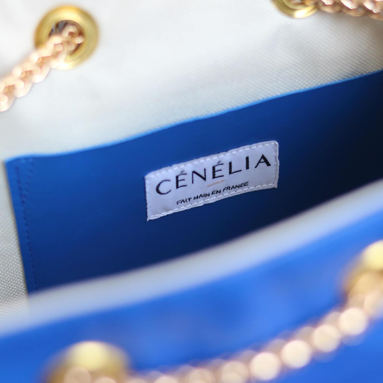Sac seau bleu klein Zoé - Cénélia - sac femme mode France
