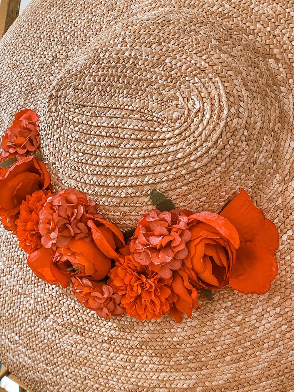 accessoires de mode - chapeau femme - chapeau de paille fleuri - Cénélia