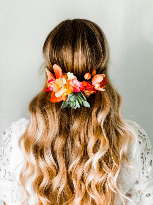 accessoires de mode - couronne de fleurs bohème - Cénélia
