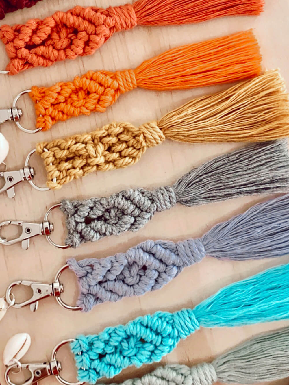 accessoires de mode - porte clés macramé - Cénélia - porte clefs femme