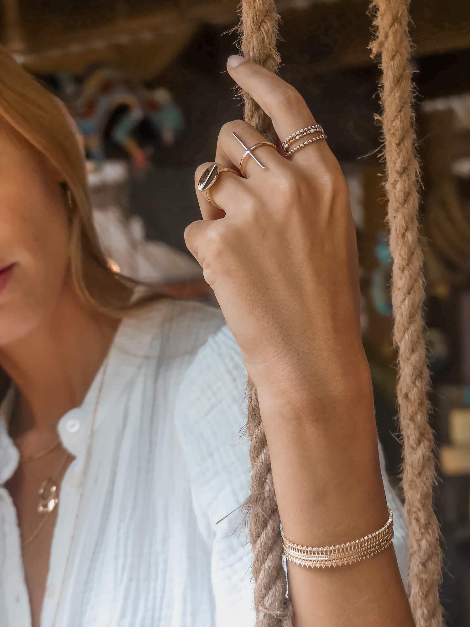 bijoux tendance - bague femme plaqué or - bague Martinique - Cénélia