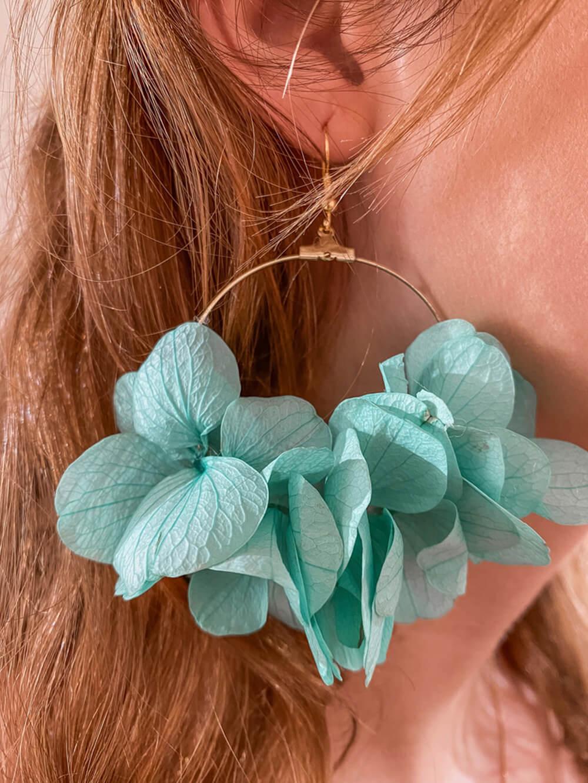 bijoux tendance - boucles d'oreilles fleuries - Cénélia