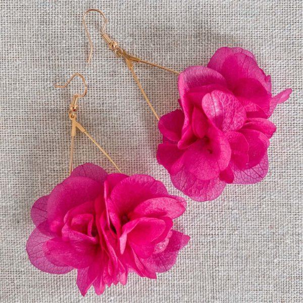boucle d oreilles en fleurs naturelles Cénélia - Cockleshell Bay