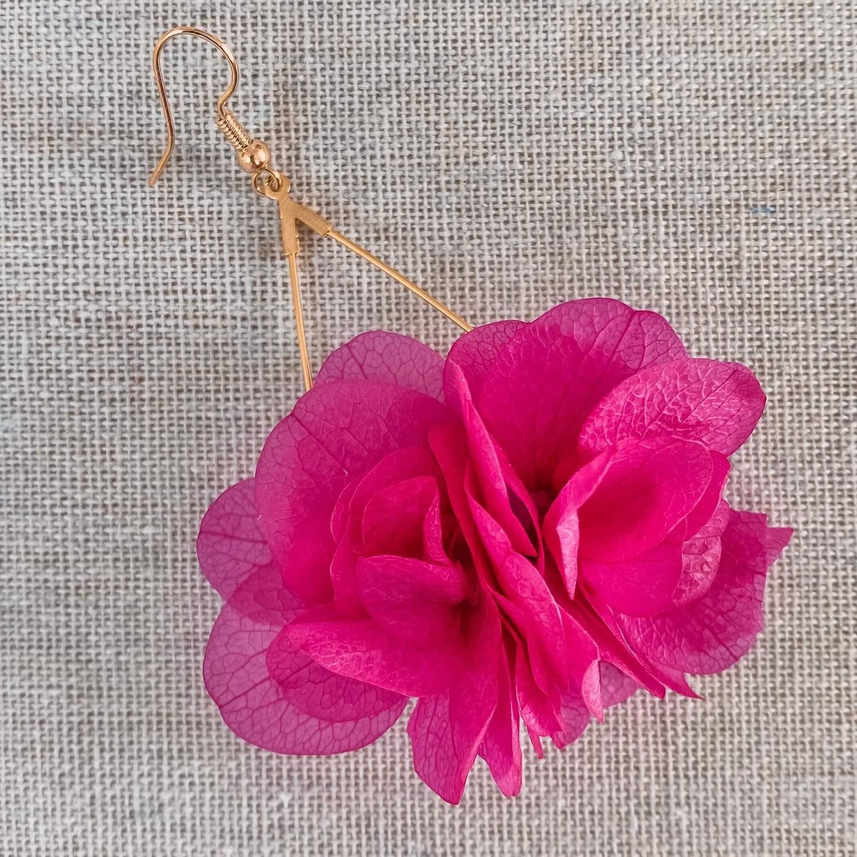 boucle d oreilles fleurs naturelles Cénélia - Cockleshell Bay