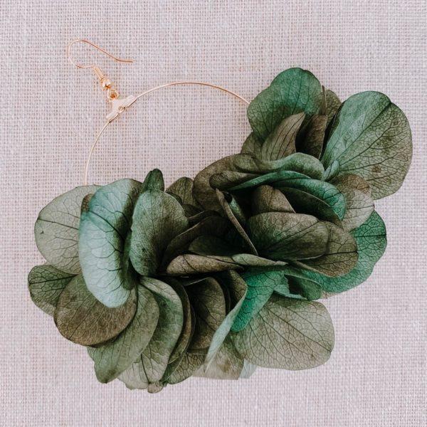 boucles Anegada - boucles d oreilles en vraies fleurs naturelles Cénélia Martinique