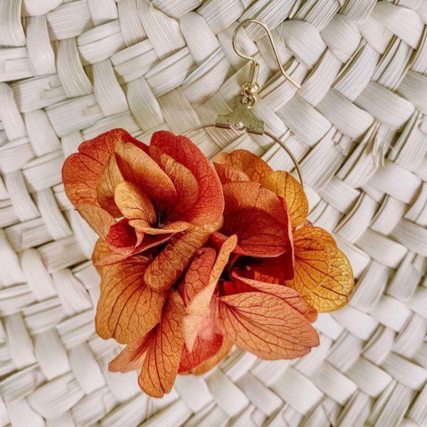boucles Anse Marcel - boucle d oreille fleur éternelle Cénélia bijou