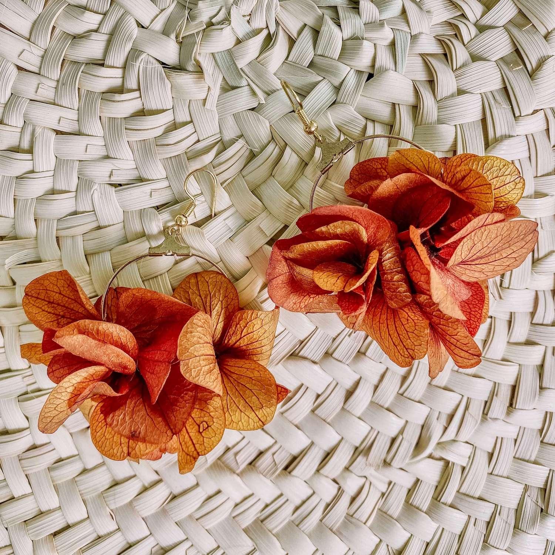 boucles Anse Marcel - boucle d oreille fleur éternelle Cénélia bijoux