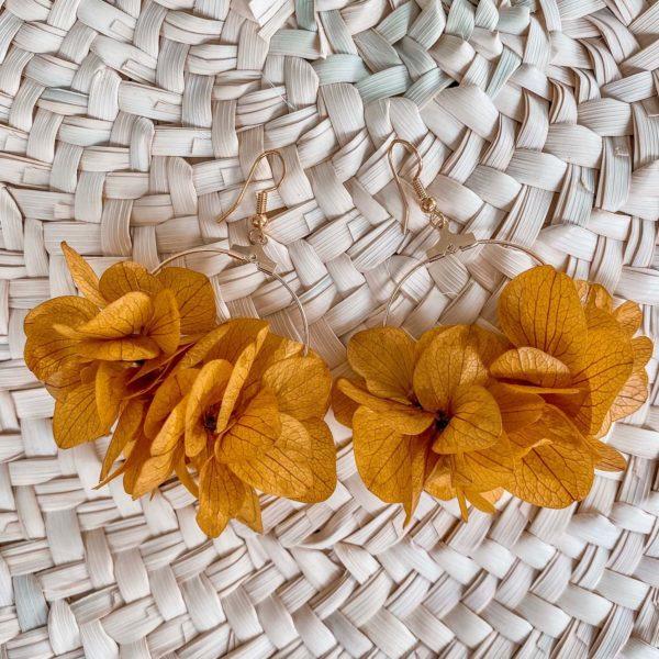 boucles Baie Longue - boucles d oreille en fleurs éternelles Cénélia
