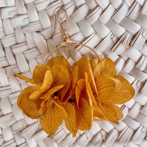 boucles Baie Longue - boucles d oreille en fleurs éternelles bijoux Cénélia